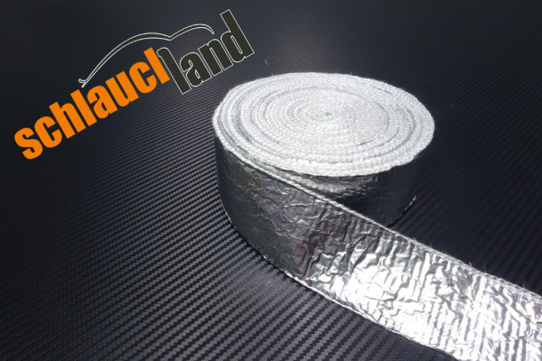 Hitzeschutzband Alu-Fiberglas 50mm weiß