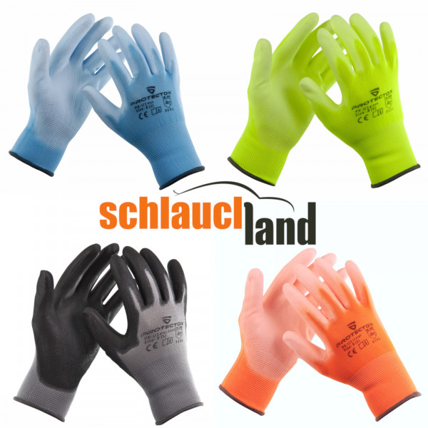 1-1000x Arbeitshandschuhe Gr. 7-11 antistatisch PROTECTOX PX-U1 *** XS-XL verschiedene Farben