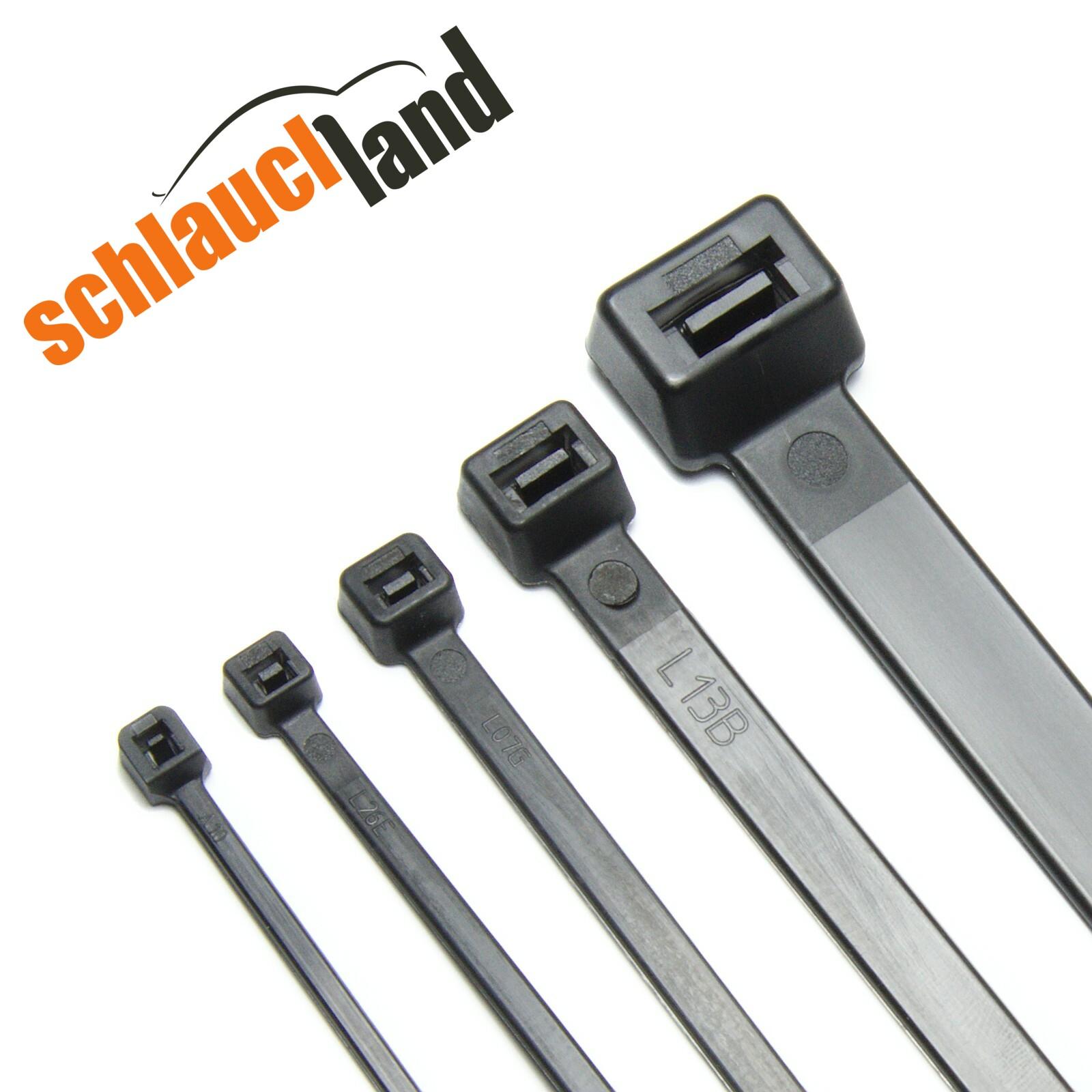 Profi Kabelbinder Kabel Binder 2,5 x 100 mm 10cm 1000 Stk schwarz