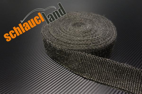 Hitzeschutzband Fiberglas 50mm schwarz