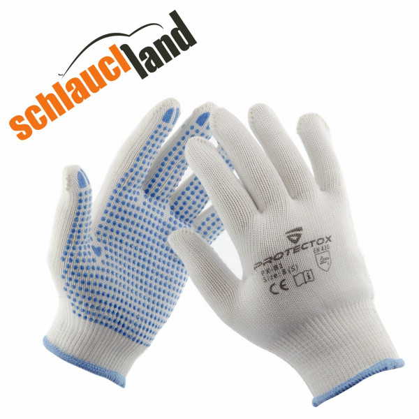 Arbeitshandschuhe Baumwolle PROTECTOX PX-B1 mit Noppen Gr. 7-11