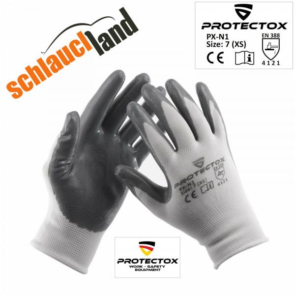 Arbeitshandschuhe Nitril PROTECTOX PX-N1 grau