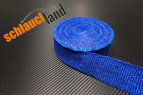 Hitzeschutzband Fiberglas 50mm blau