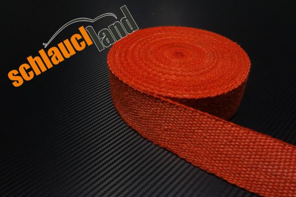 Hitzeschutzband Fiberglas 50mm rot