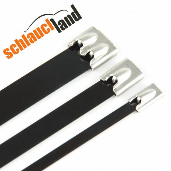 Kabelbinder Edelstahl schwarz 1,10,20,...,500 Stück