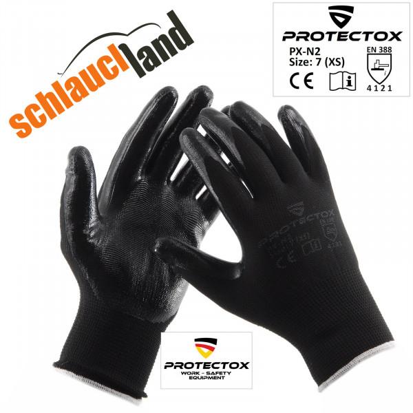 Arbeitshandschuhe Nitril PROTECTOX PX-N2 schwarz