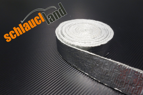 Alu-Fiberglas Hitzeschutzband 50mm selbstklebend