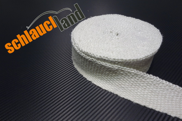 Hitzeschutzband Keramik 50mm weiß