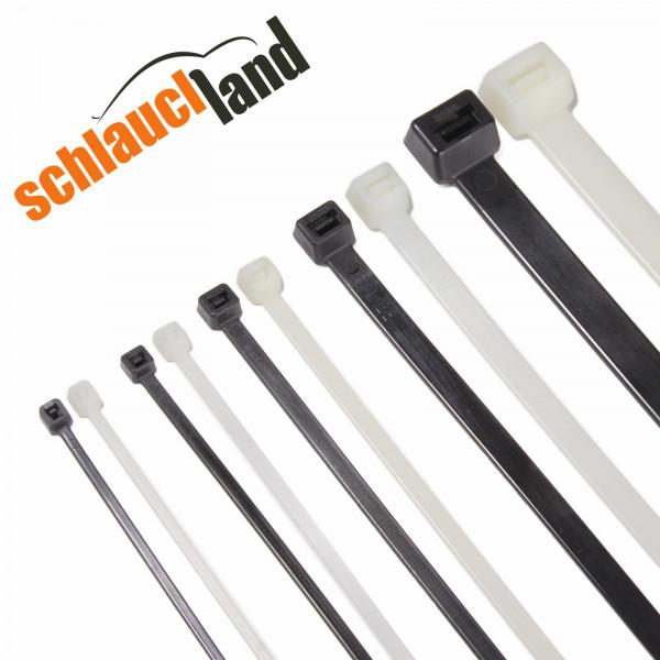 Kabelbinder Schwarz Weiß verschiedene Größen Kabel Binder Nylon Industrie